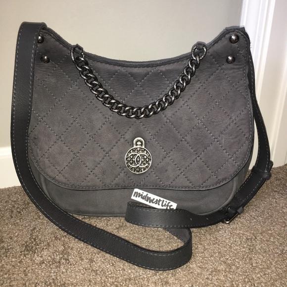 00eec77a6c32b CHANEL Handbags - Chanel Gray Quilted Suede Medallion Crossbody EUC
